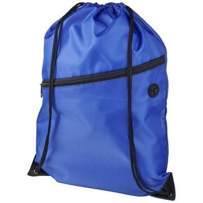 Picture of ORIOLE ZIPPERED DRAWSTRING BACKPACK RUCKSACK in Royal Blue