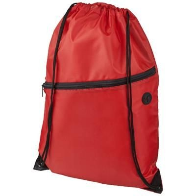 Picture of ORIOLE ZIPPERED DRAWSTRING BACKPACK RUCKSACK in Red