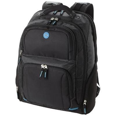 Picture of TY 15 4 Checkpoint Friendly Laptop Backpack Rucksack in Black Solid