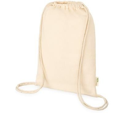 Picture of GOTS ORISSA ORGANIC COTTON DRAWSTRING BACKPACK in Natural