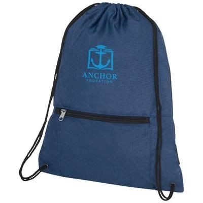 Picture of HOSS FOLDING DRAWSTRING BACKPACK RUCKSACK in Heather Navy