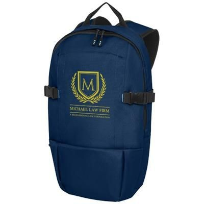 Picture of BAIKAL 15 INCH GRS RPET LAPTOP BACKPACK RUCKSACK in Navy