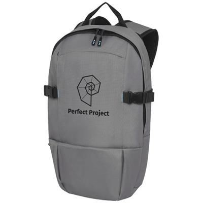 Picture of BAIKAL 15 INCH GRS RPET LAPTOP BACKPACK RUCKSACK in Heather Grey