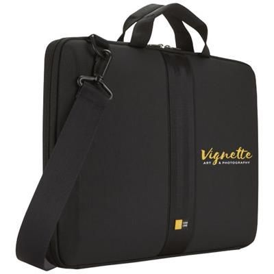 Picture of CASE LOGIC 16 INCH LAPTOP SLEEVE with Handles & Strap in Solid Black