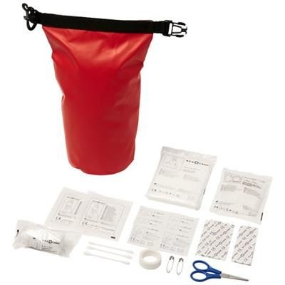 Picture of ALEXANDER 30-PIECE FIRST AID WATERPROOF BAG in Red
