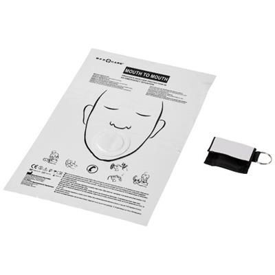 Picture of HENRIK MOUTH-TO-MOUTH SHIELD in Polyester Pouch in Black Solid