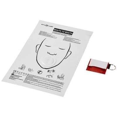 Picture of HENRIK MOUTH-TO-MOUTH SHIELD in Polyester Pouch in Red