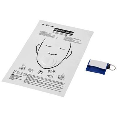 Picture of HENRIK MOUTH-TO-MOUTH SHIELD in Polyester Pouch in Royal Blue