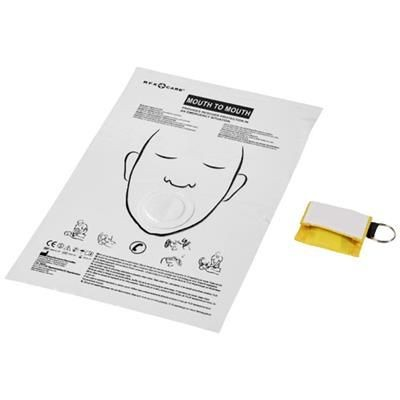 Picture of HENRIK MOUTH-TO-MOUTH SHIELD in Polyester Pouch in Yellow