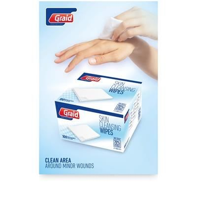 Picture of ELISABETH CLEANSING WET WIPE TISSUE PACK in White Solid