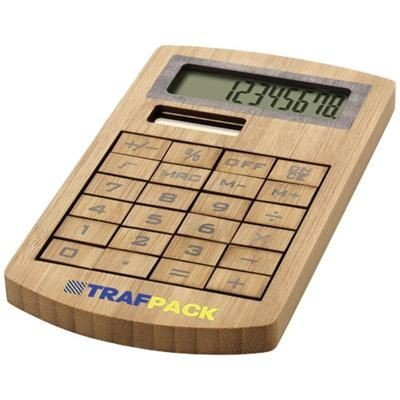 Picture of EUGENE CALCULATOR MADE OF BAMBOO in Wood