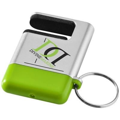 Picture of GOGO SCREEN CLEANER AND SMARTPHONE HOLDER in Silver-lime Green