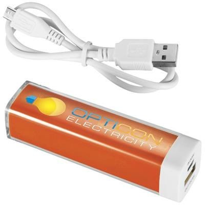 Picture of FLASH 2200 MAH POWER BANK in Orange