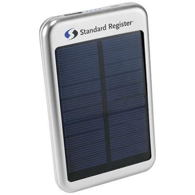 Picture of BASK 4000 MAH SOLAR POWER BANK in Silver