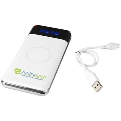 Picture of CONSTANT 10000MAH CORDLESS POWER BANK with LED in White Solid