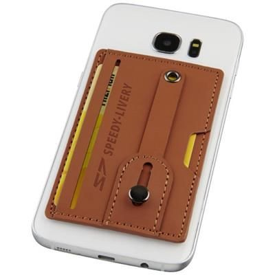 Picture of PRIME RFID PHONE WALLET with Strap in Brown