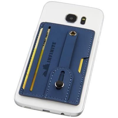 Picture of PRIME RFID PHONE WALLET with Strap in Navy