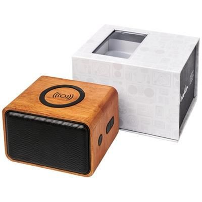 Picture of WOOD SPEAKER with Cordless Charger Pad in Wood
