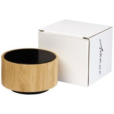 Picture of COSMOS BAMBOO BLUETOOTH® SPEAKER in Wood-black Solid