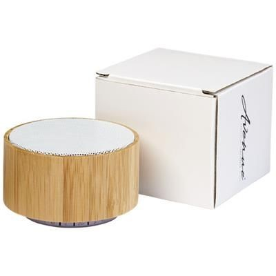 Picture of COSMOS BAMBOO BLUETOOTH® SPEAKER in Wood-white Solid