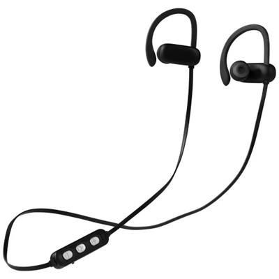 Picture of BRILLIANT LIGHT-UP LOGO BLUETOOTH® EARBUDS in Black Solid