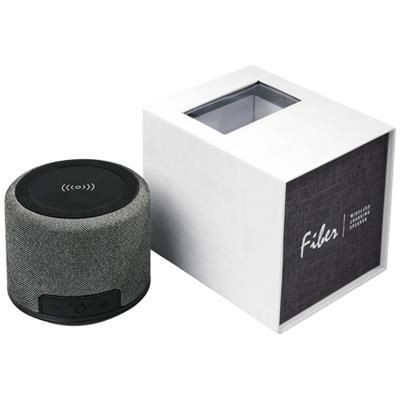 Picture of FIBER CORDLESS CHARGER BLUETOOTH® SPEAKER in Black Solid