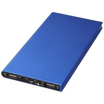 Picture of PLATE 8000 MAH ALUMINIUM METAL POWER BANK in Royal Blue