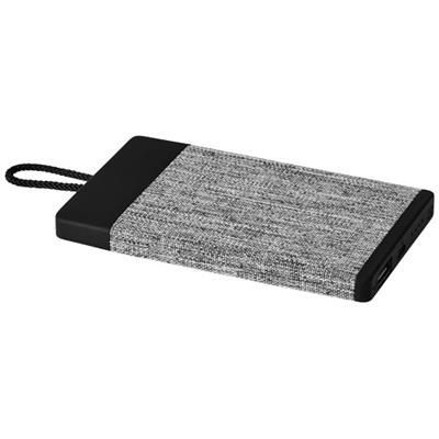 Picture of WEAVE 4000 MAH FABRIC POWER BANK in Black Solid