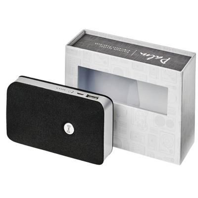 Picture of PALM BLUETOOTH® SPEAKER with Cordless Power Bank in Black Solid