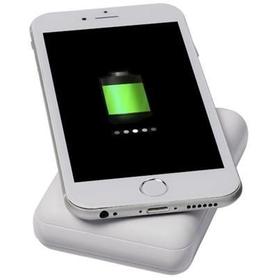 Picture of DENSE 5000 MAH CORDLESS POWER BANK in White Solid