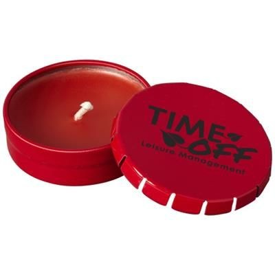 Picture of BOVA CANDLE in Tin in Red