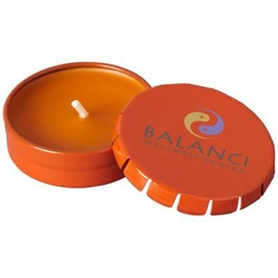 Picture of BOVA CANDLE in Tin in Orange