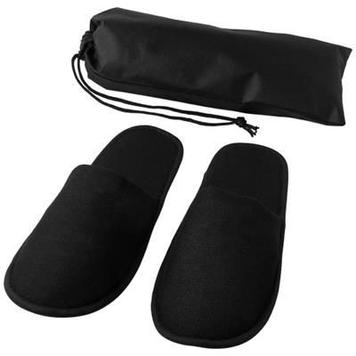 Picture of WALTON WELLNESS SLIPPERS in Black Solid