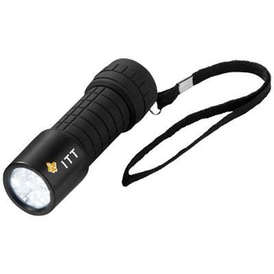 Picture of SHINE-ON 9-LED TORCH LIGHT in Black Solid