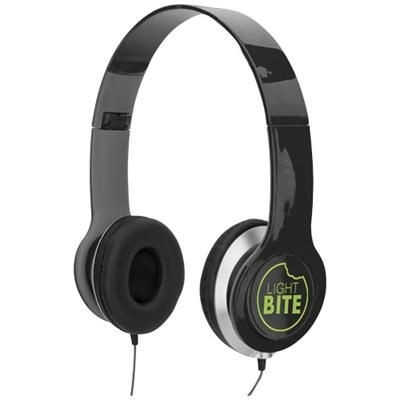 Picture of CHEAZ FOLDING HEADPHONES in Black Solid