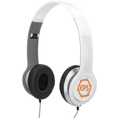 Picture of CHEAZ FOLDING HEADPHONES in White Solid