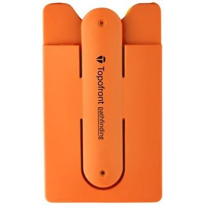 Picture of STUE SILICON SMARTPHONE STAND AND WALLET in Orange
