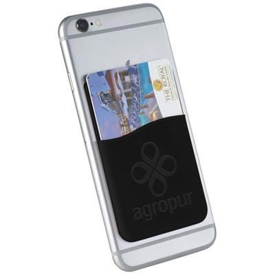 Picture of SLIM CARD WALLET ACCESSORY FOR SMARTPHONES in Black Solid