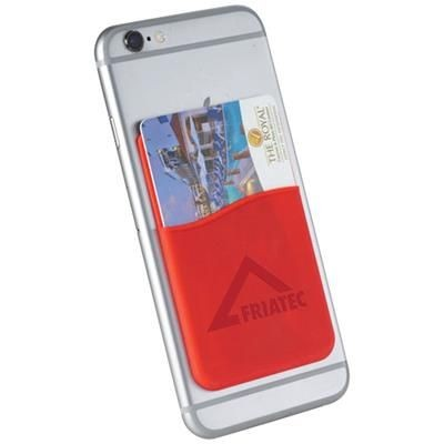Picture of SLIM CARD WALLET ACCESSORY FOR SMARTPHONES in Red