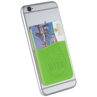 Picture of SLIM CARD WALLET ACCESSORY FOR SMARTPHONES in Lime