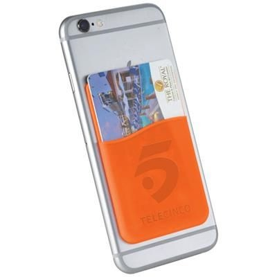 Picture of SLIM CARD WALLET ACCESSORY FOR SMARTPHONES in Orange
