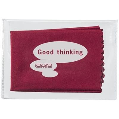 Picture of MICROFIBRE CLEANING CLOTH in Case in Burgundy