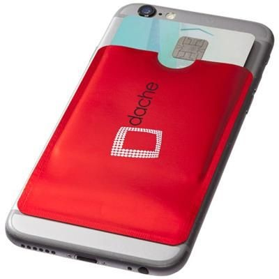 Picture of EXETER RFID SMARTPHONE CARD WALLET in Red