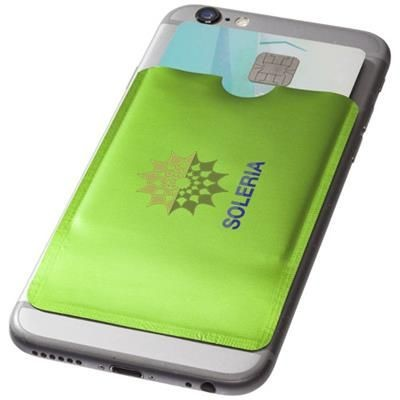 Picture of EXETER RFID SMARTPHONE CARD WALLET in Lime
