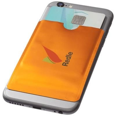 Picture of EXETER RFID SMARTPHONE CARD WALLET in Orange
