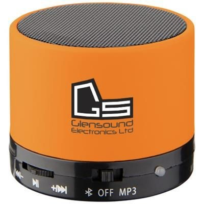 Picture of DUCK CYLINDER BLUETOOTH® SPEAKER with Rubber Finish in Orange
