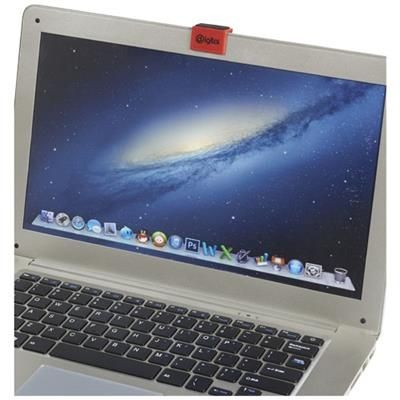 Picture of CLIP-ON WEBCAM BLOCKER with Screen Cleaner in Red