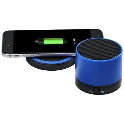 Picture of COSMIC BLUETOOTH® SPEAKER AND CORDLESS CHARGER PAD in Royal Blue