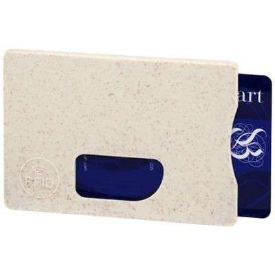 Picture of STRAW RFID CARD HOLDER in Beige