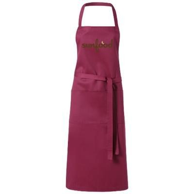Picture of VIERA APRON with 2 Pockets in Burgundy